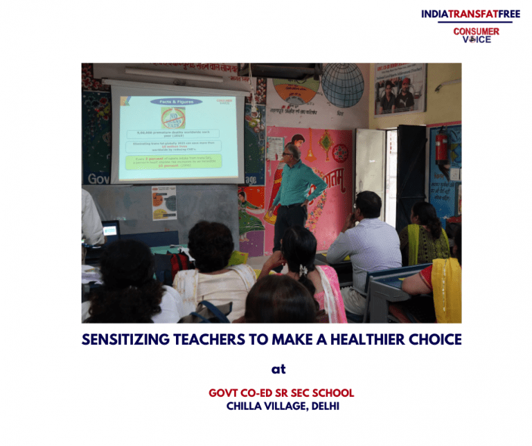 Workshop on Trans Fats with Government School Teachers in Mayur Vihar