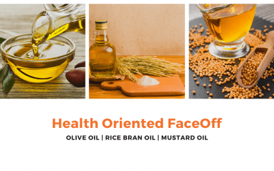 The Health-Oriented Faceoff :  Mustard Oil vs. Rice Bran Oil vs. Olive Oil