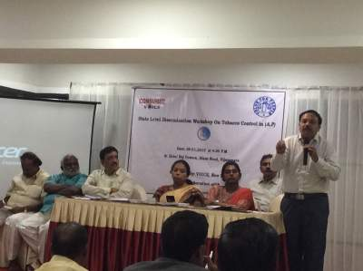State Level Workshop for Sensitization Of Stakeholders to Support Tobacco Vendor Licensing Vijaywada, Andhra Pradesh