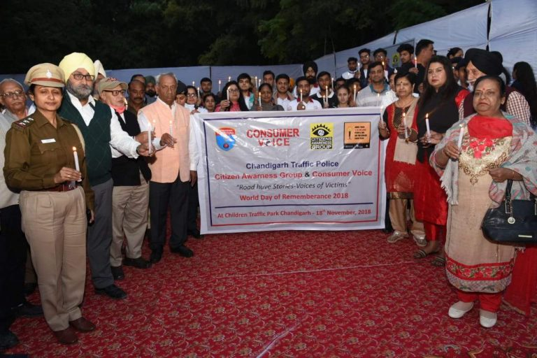 World Day of Remembrance for Road Traffic Victims (WDR) – Chandigarh