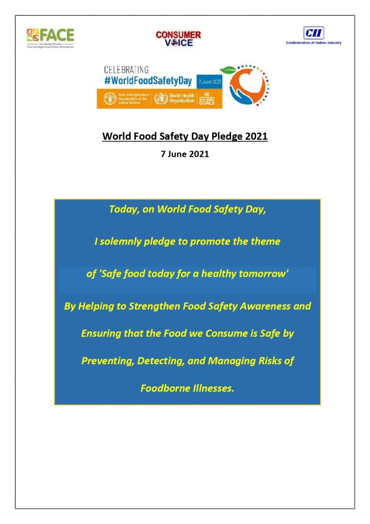 World Food Safety Day Pledge
