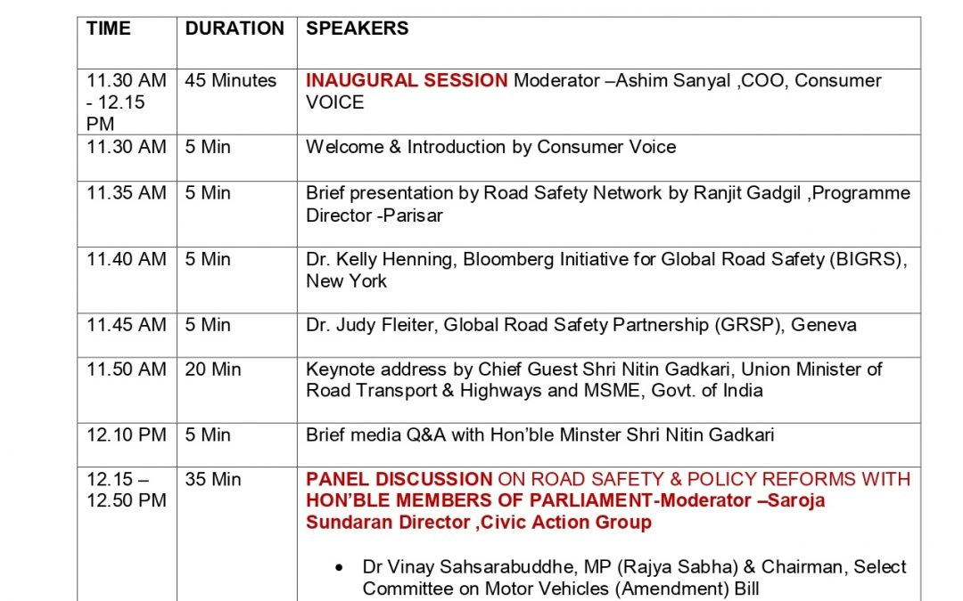 National Road Safety Webinar by Road Safety Network